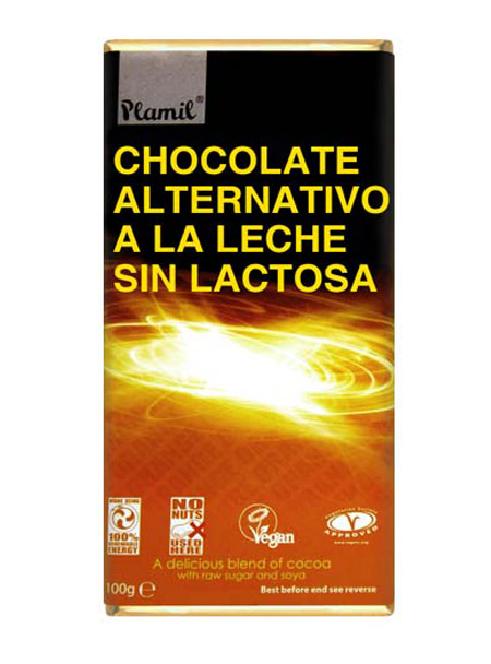 CHOCOLATE  ALTERNATIVO A LA LECHE (PLAMIL) 100GR