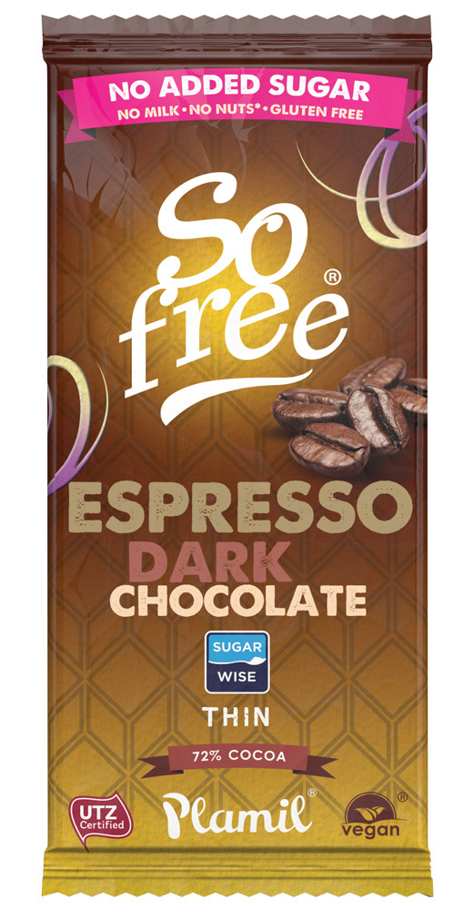 SO FREE CHOCOLATE EXPRESO INTENSO 72% 80GR SIN AZUCAR