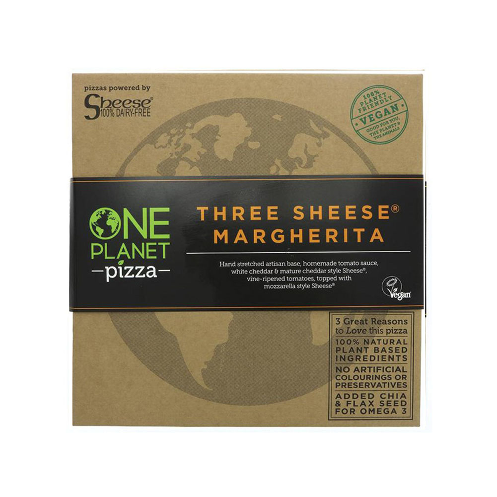 PIZZA TRES QUESOS 426 GR ONE PLANET PIZZA en Biovegalia