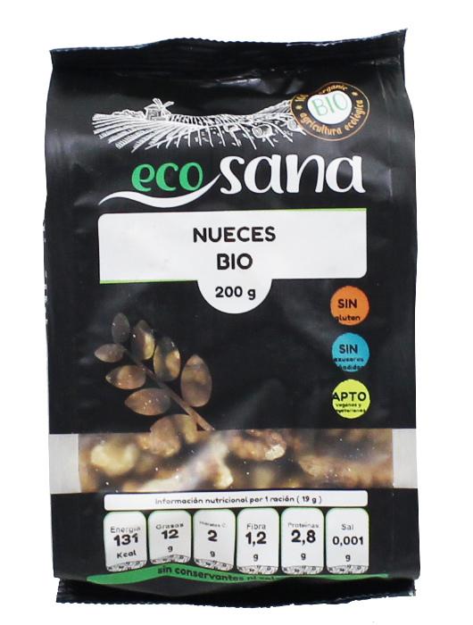 NUECES MITADES BIO 200GR ECOSANA en Biovegalia