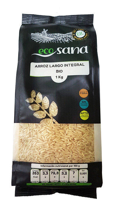 ARROZ LARGO INTEGRAL BIO 1KG ECOSANA