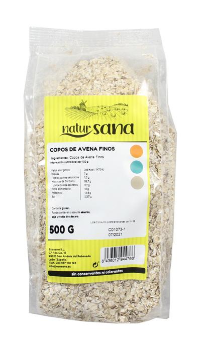 COPOS AVENA FINO 500GR NATURSANA ECOSANA en Biovegalia