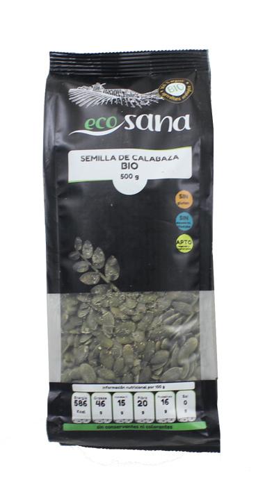 SEMILLA CALABAZA 500GR BIO ECOSANA en Biovegalia