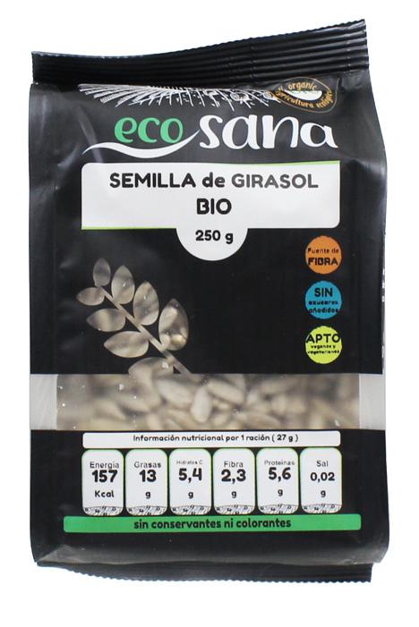 SEMILLA GIRASOL BIO 250GR ECOSANA ECOSANA en Biovegalia