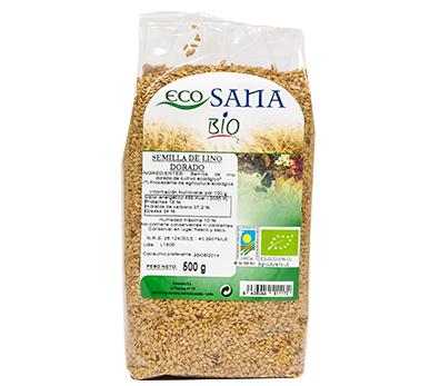 SEMILLA LINO DORADO BIO 500GR ECOSANA en Biovegalia