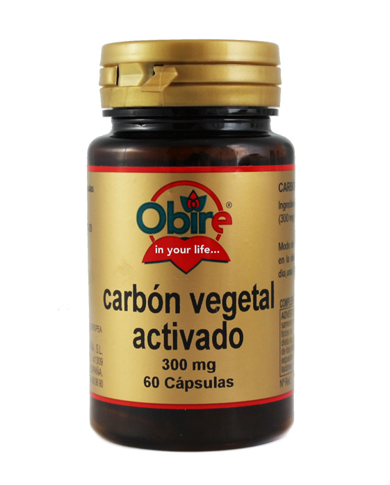 CARBON VEGETAL ACTIVADO 300MG  60CAPS OBIRE en Biovegalia