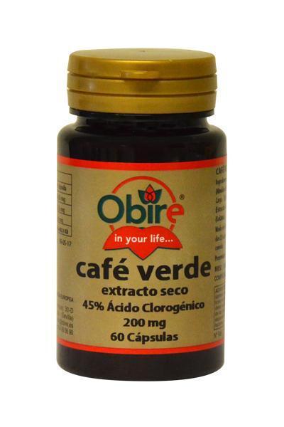 CAFE VERDE (EXT SECO) 200MG 60 CAPS OBIRE en Biovegalia