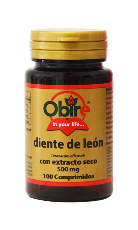 DIENTE DE LEON (EXT SECO) 500MG 100COMP OBIRE en Biovegalia