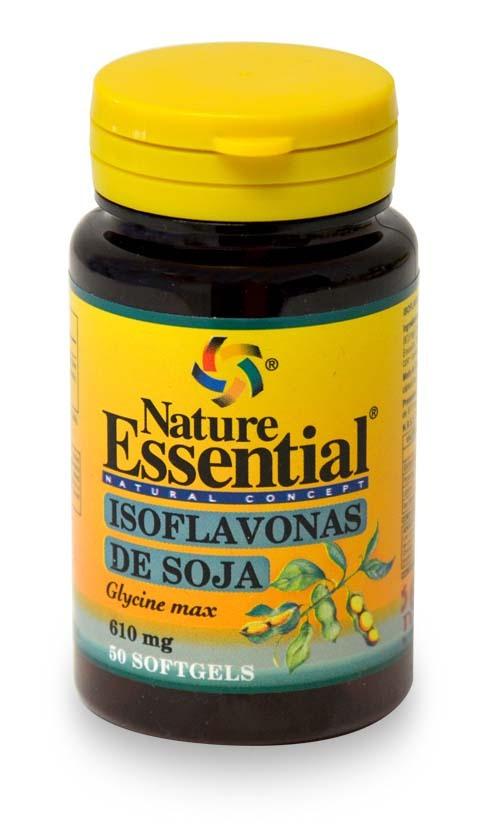ISOFLAVONAS DE SOJA  610MG 50PERLAS NATURE ESSENTIAL en Biovegalia