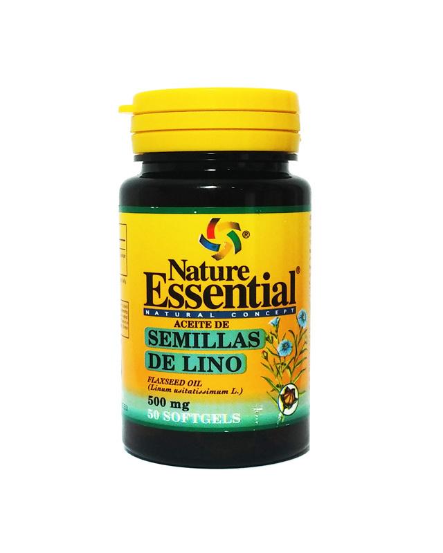 ACEITE SEMILLA LINO 500MG 50PERL NATURE ESSENTIAL en Biovegalia