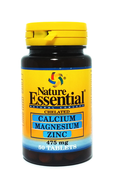 CALCIO MAGNESIO ZINC 475 MG 50 COMP NATURE ESSENTIAL en Biovegalia