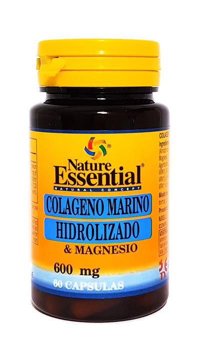 COLAGENO MARINO HIDROLIZADO  y  MAGNESIO 60 CAP NATURE ESSENTIAL en Biovegalia
