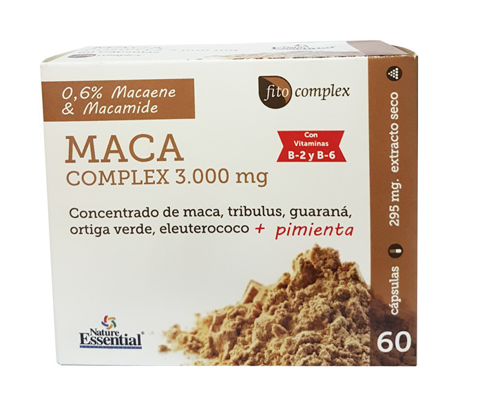 MACA COMPLEX 3000 MG  60 CAPS NATURE ESSENTIAL en Biovegalia
