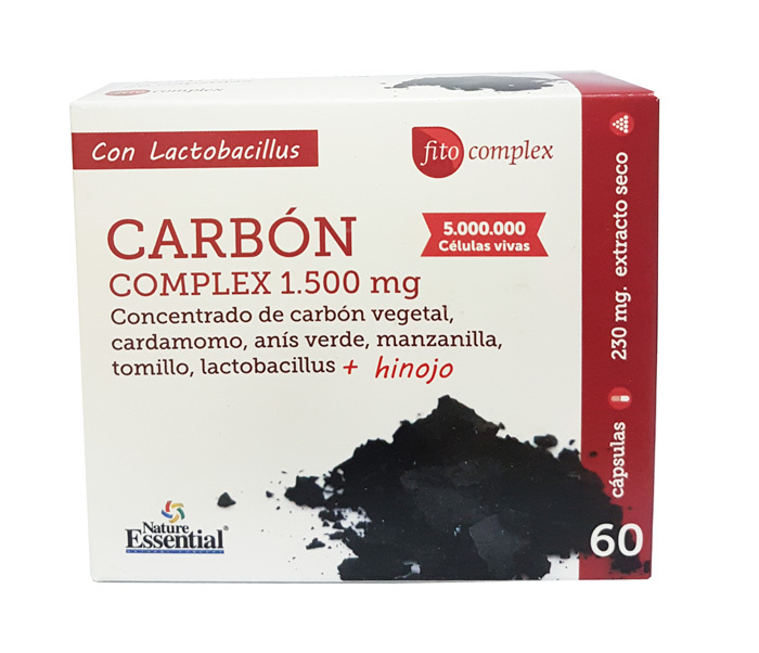 CARBON COMPLEX 1500MG  60 CAP NATURE ESSENTIAL en Biovegalia