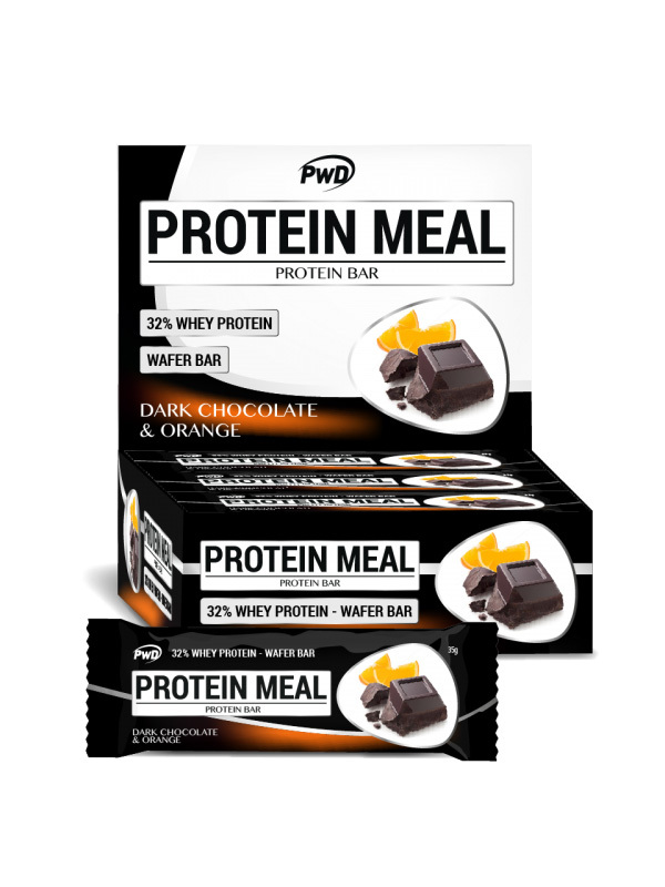 BARRITA CHOCOLATE NEGRO Y NARANJA PROTEIN MEAL 35GR PWD NUTRITION en Biovegalia