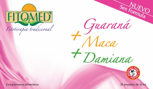 FITOMED SF GUARANA  MACA  Y  DAMIANA 20 AMP