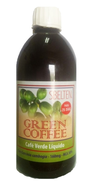 SBELTEN CAFE VERDE (GREEN COFFEE) LIQUIDO 500ml DIETICLAR en Biovegalia