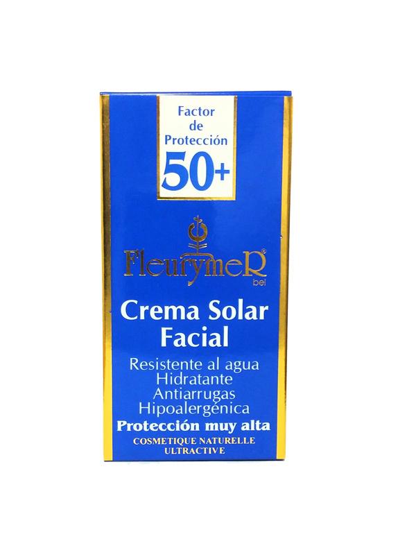 CREMA SOLAR FACIAL SPF 50  y  TUBO 80ML FLEURYMER en Biovegalia