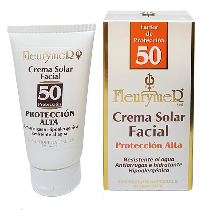 CREMA SOLAR FACIAL SPF 50 TUBO 80ML FLEURYMER en Biovegalia
