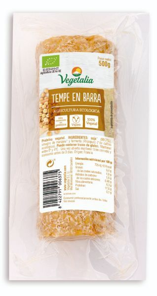 TEMPE A GRANEL en BARRA BIO CCPAE 500 g VEGETALIA en Biovegalia