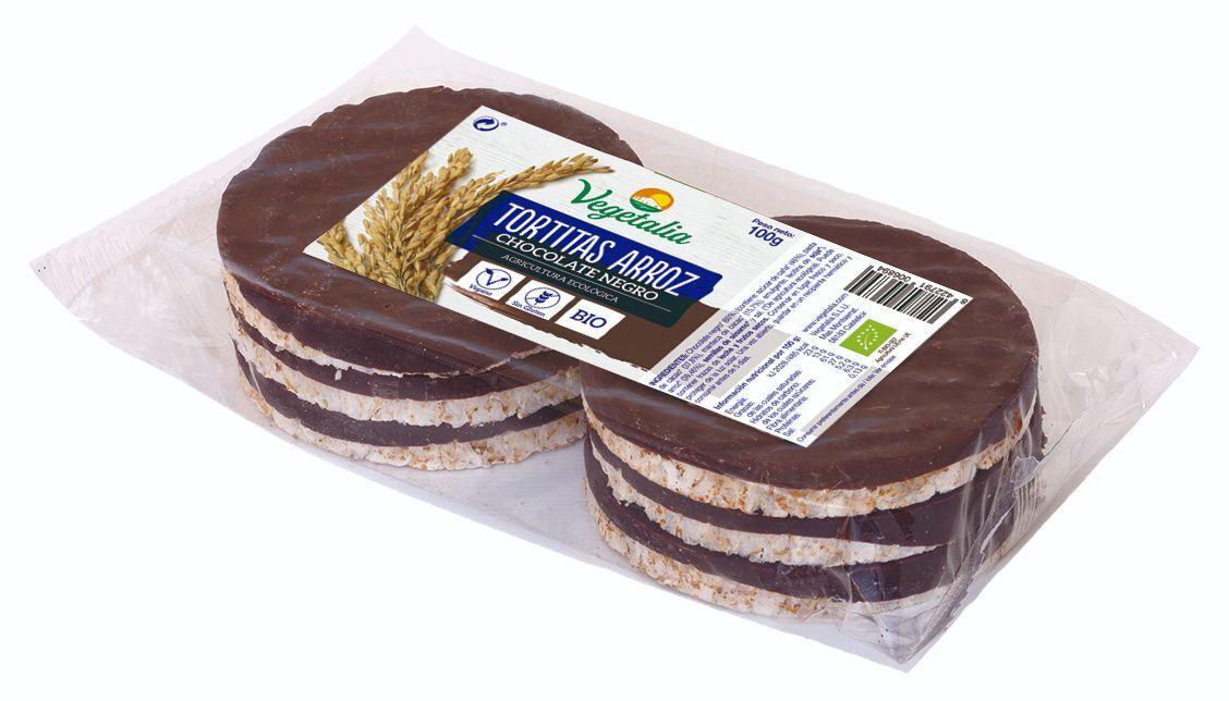 TORTITAS DE ARROZ CHOCOLATE NEGRO BIO 100 GR
