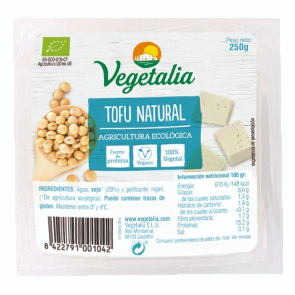 TOFU NATURAL BIO CCPAE 250 GR VEGETALIA en Biovegalia