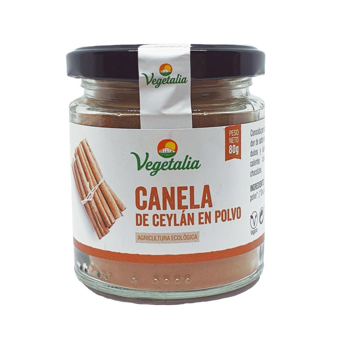 CANELA EN POLVO DE CEYLAN BIO CCPAE 80 g VEGETALIA en Biovegalia