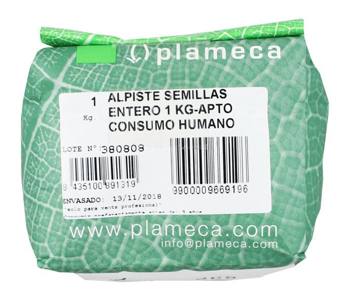 ALPISTE SEMILAS ENTERO PLAMECA 1 KG en Biovegalia