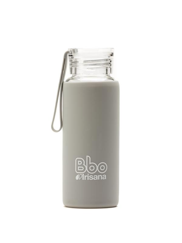 BOTELLA BBO GRIS BOROSILICATO CON SILICONA 330 ml. IRISANA IRISANA en Biovegalia