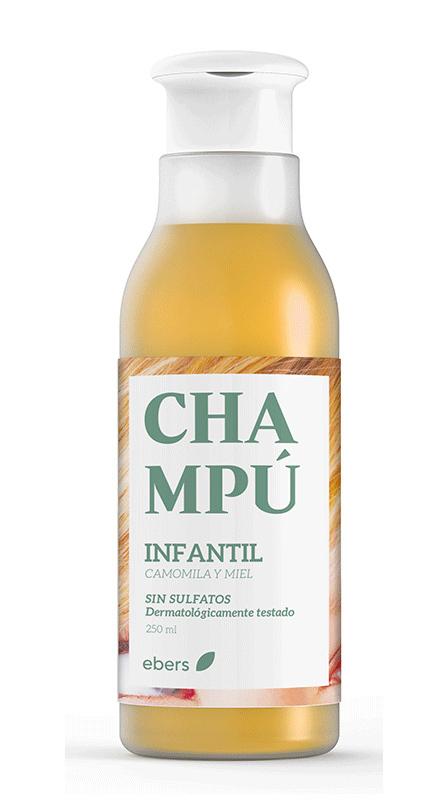 CHAMPU INFANTIL CAMOMILA Y MIEL 250ML EBERS en Biovegalia