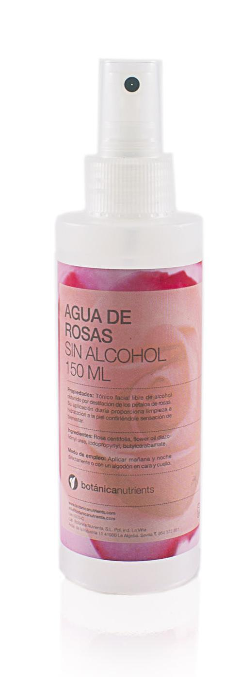 AGUA DE ROSAS SPRAY SIN ALCOHOL 150ML BOTÁNICA NUTRIENTS en Biovegalia
