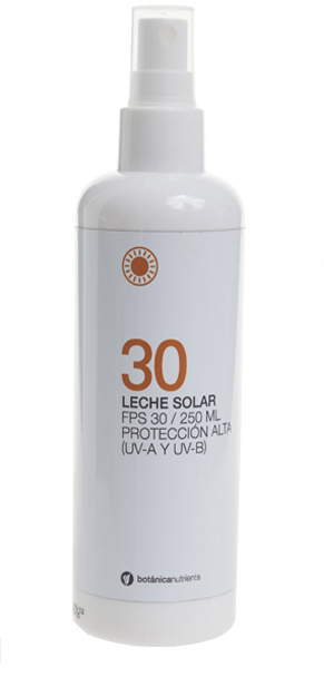 LECHE SOLAR ADULTO 30PLUS 250ML BOTÁNICA NUTRIENTS en Biovegalia