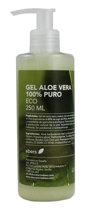 GEL ALOE VERA 100% PURO ECO 250ML DOSIF EBERS en Biovegalia