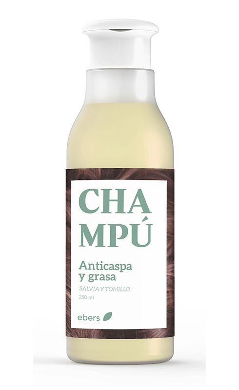 CHAMPU ANTICASPA Y GRASA (SALVIA Y TOMILLO) 250ML EBERS en Biovegalia