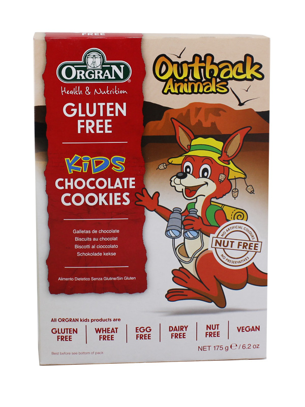 GALLETAS CHOCOLATE OUTBACK ANIMALS ORGRAN 175GR en Biovegalia