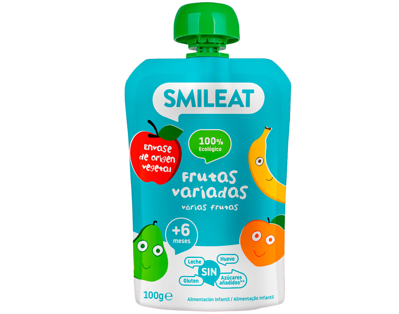 POUCH FRUTA VARIADA 100 G ( y 4MESES) SMILEAT en Biovegalia